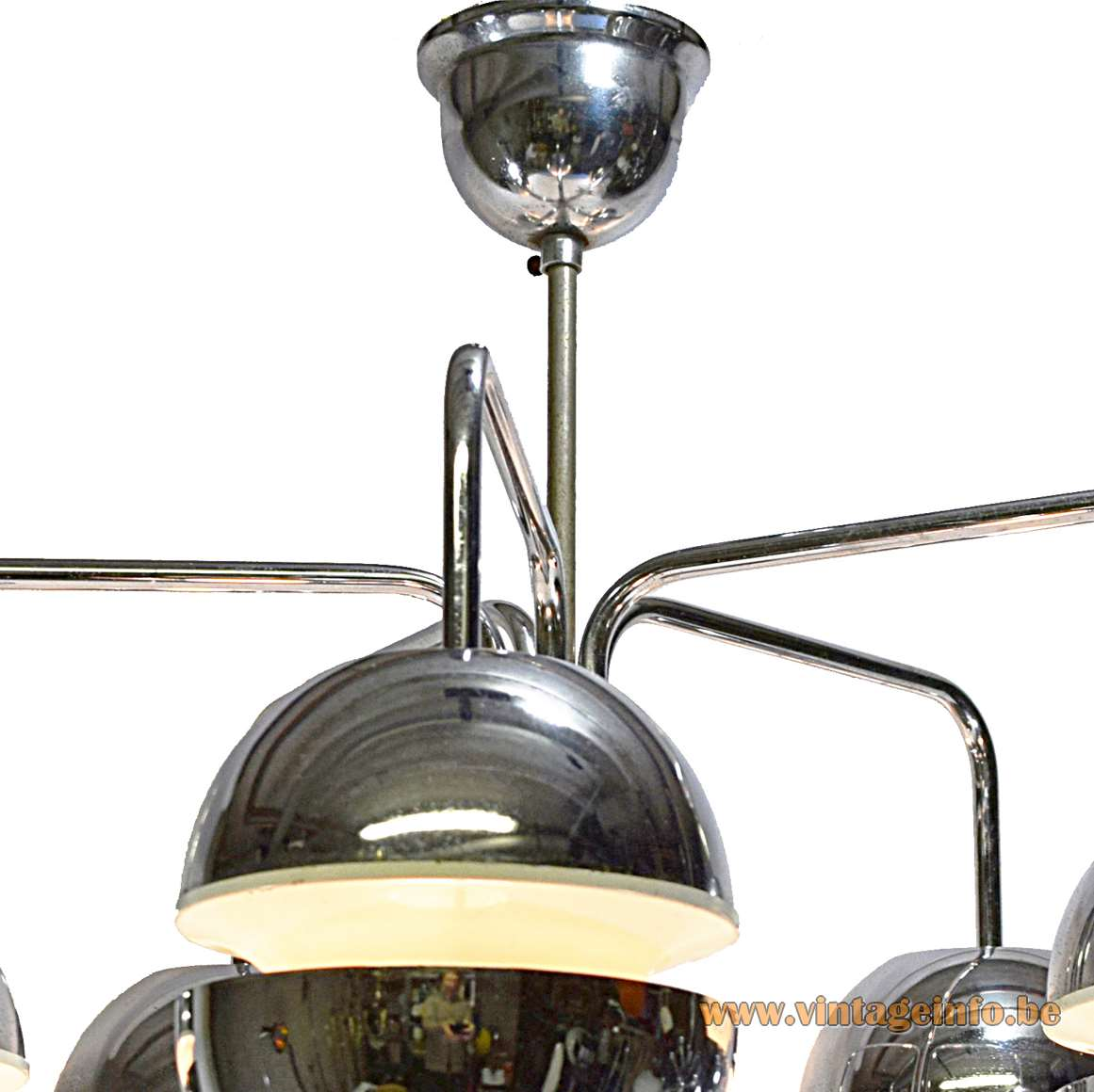 Chromed Globes Chandelier