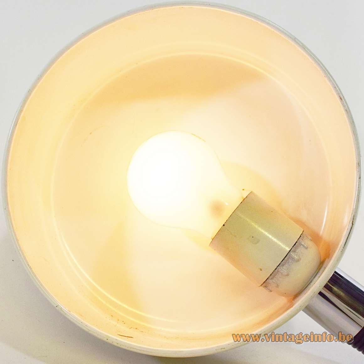 Hala Desk Light - inside of the lampshade