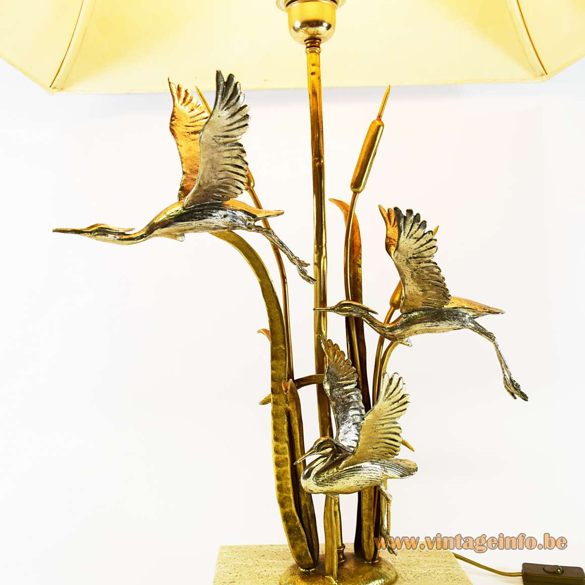 Herons & Cattail Table Lamp