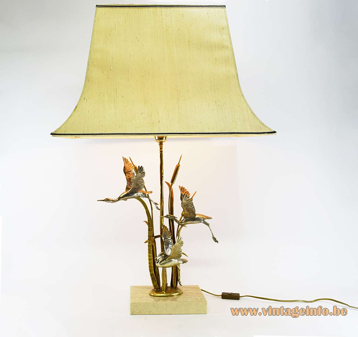 Herons & Cattails Table Lamp