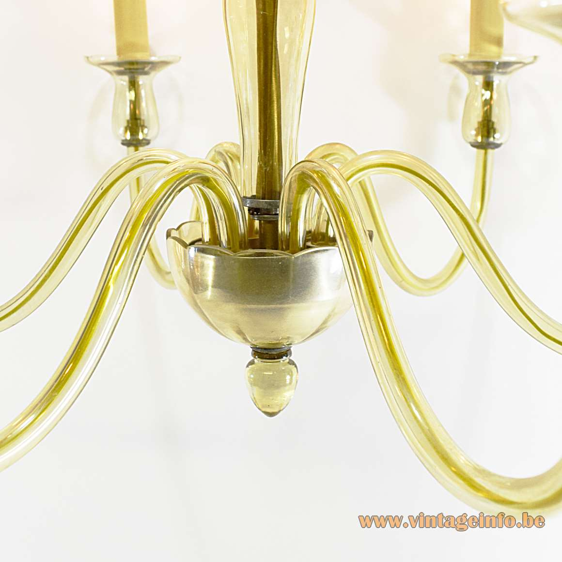 Murano Amber Glass Chandelier
