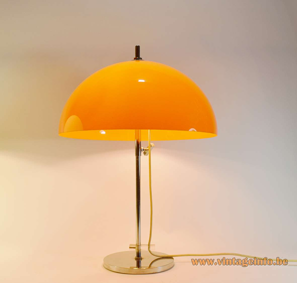Gepo Orange Mushroom Table Lamp