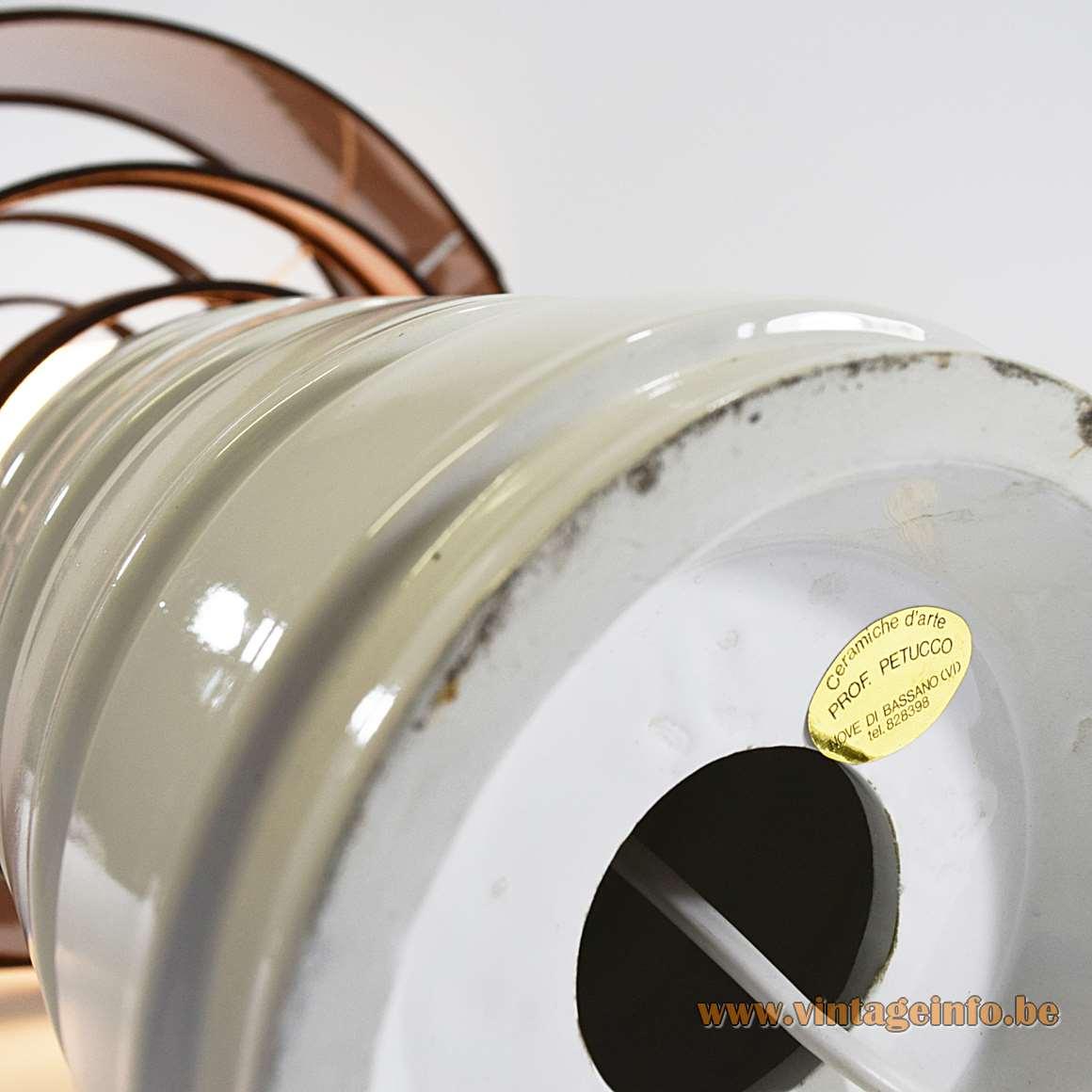 Prof. Petucco Table Lamp - label