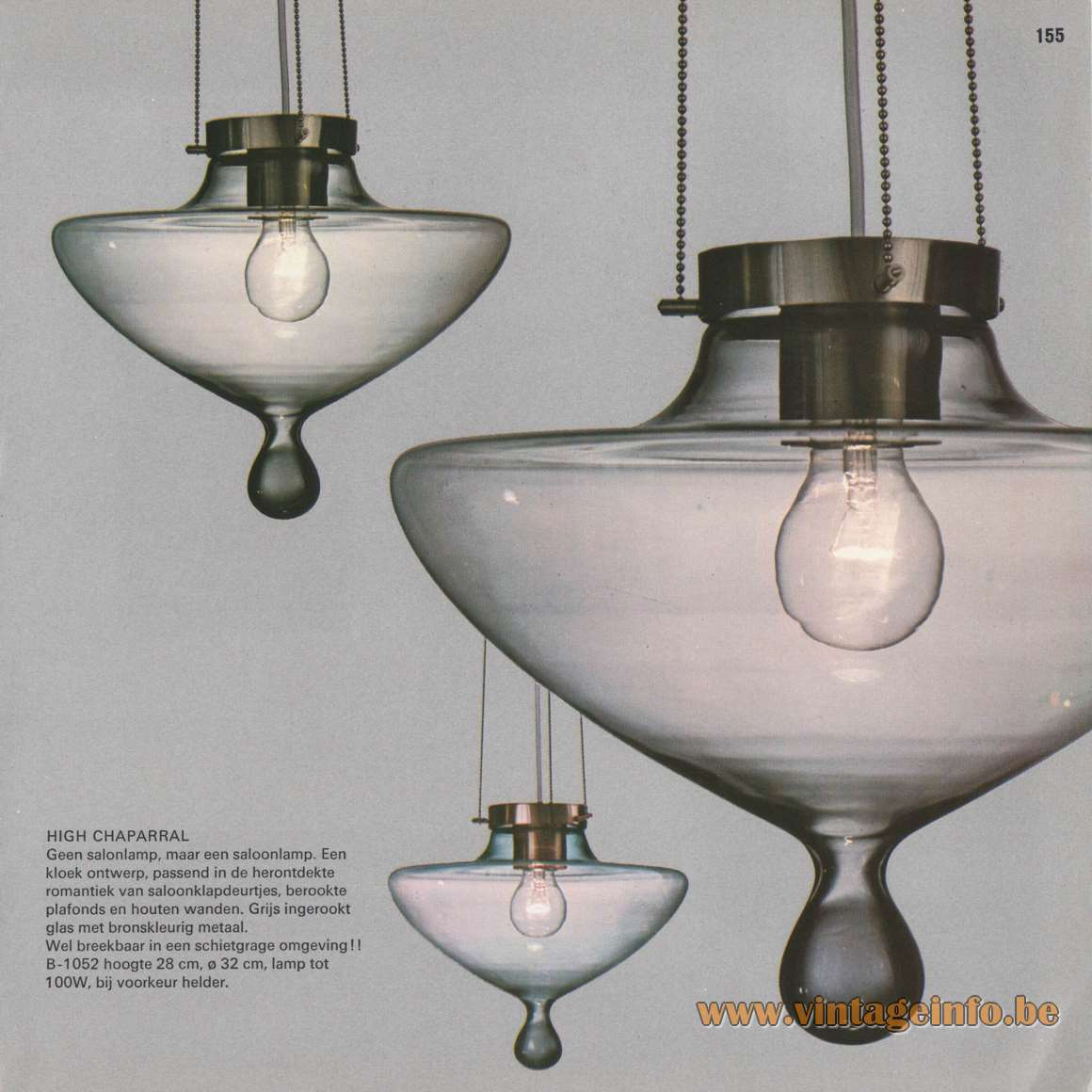 1970s Florentine Droplet Chandelier - Raak Catalogue 8 - 1968 - High Chaparral Pendant Light