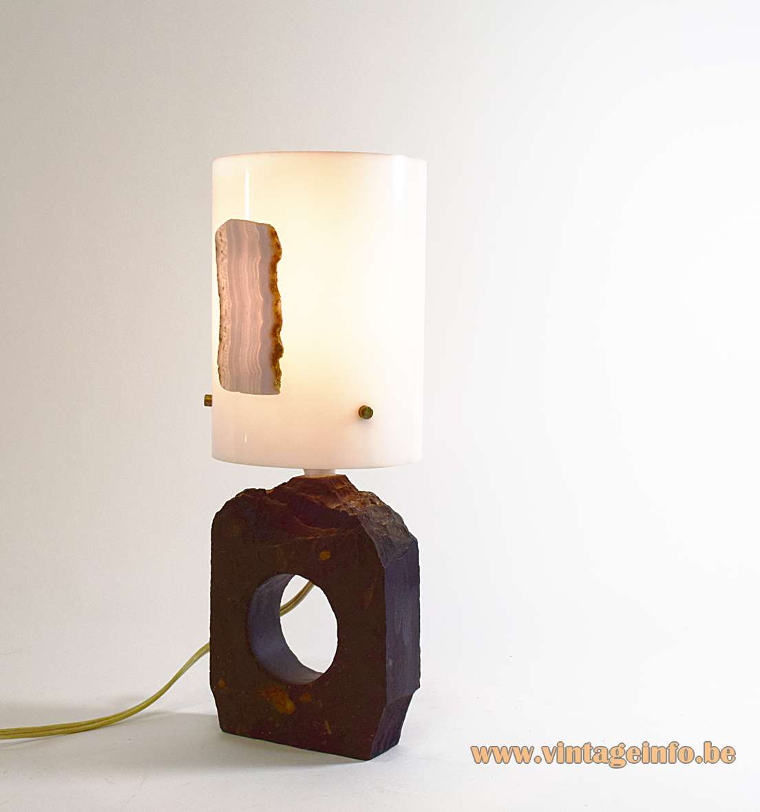 Slate & Agate Table Lamp