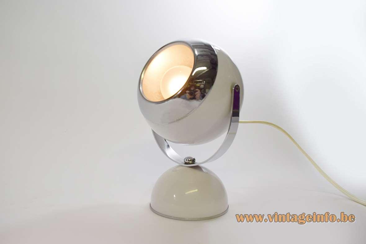 White Eyeball Table Lamp