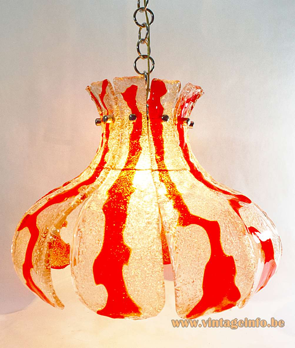 AV Mazzega Orange Crystal Chandelier