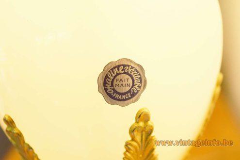 Boulanger Reed or Palm Lamps - Opaline véritable - Fait Main - France