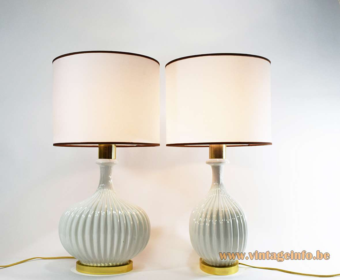 Ceramic & Brass Table Lamps