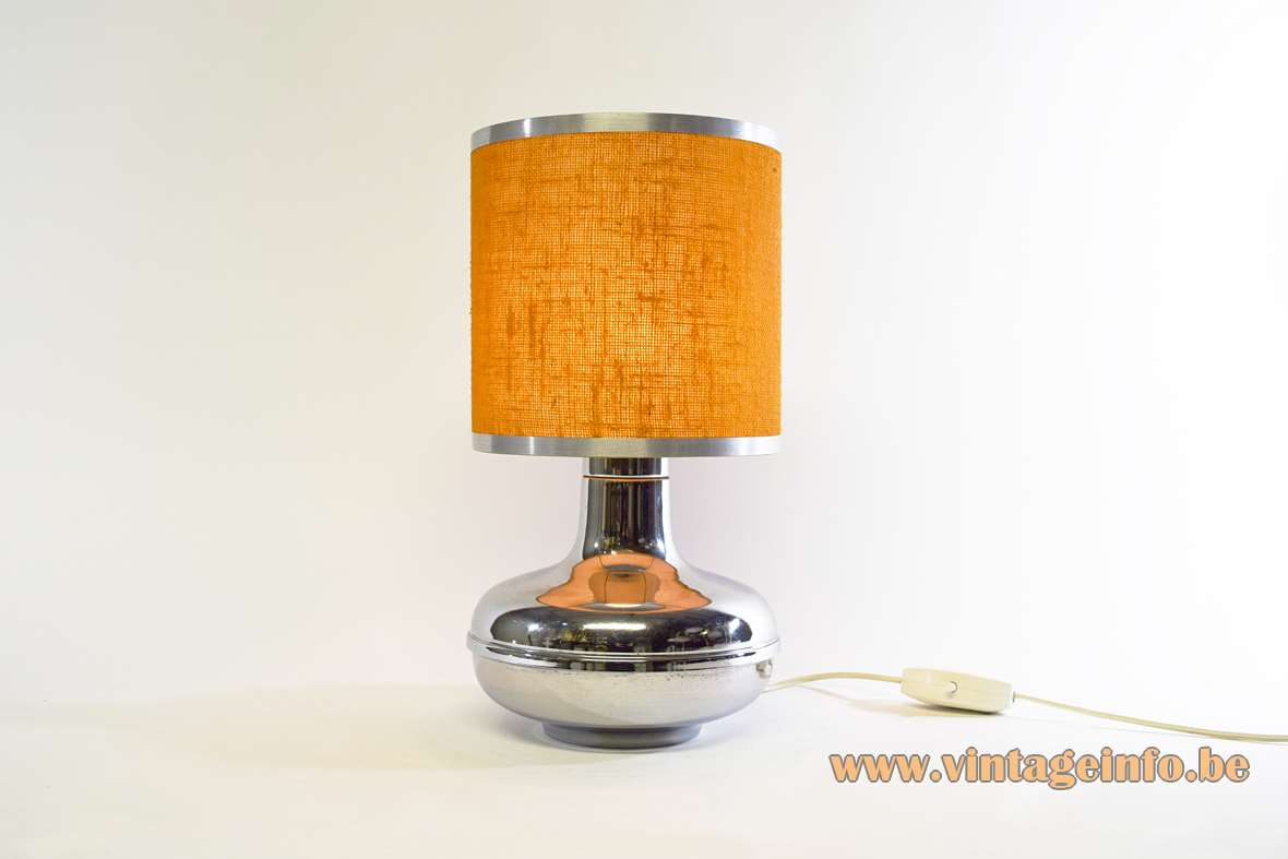 Chromed Table Lamp