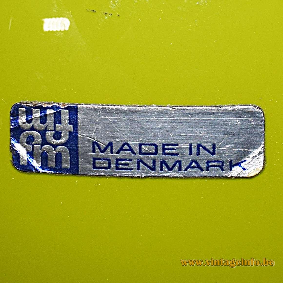 Fog & Morup Pompeï Olive Green Pendant Light - label