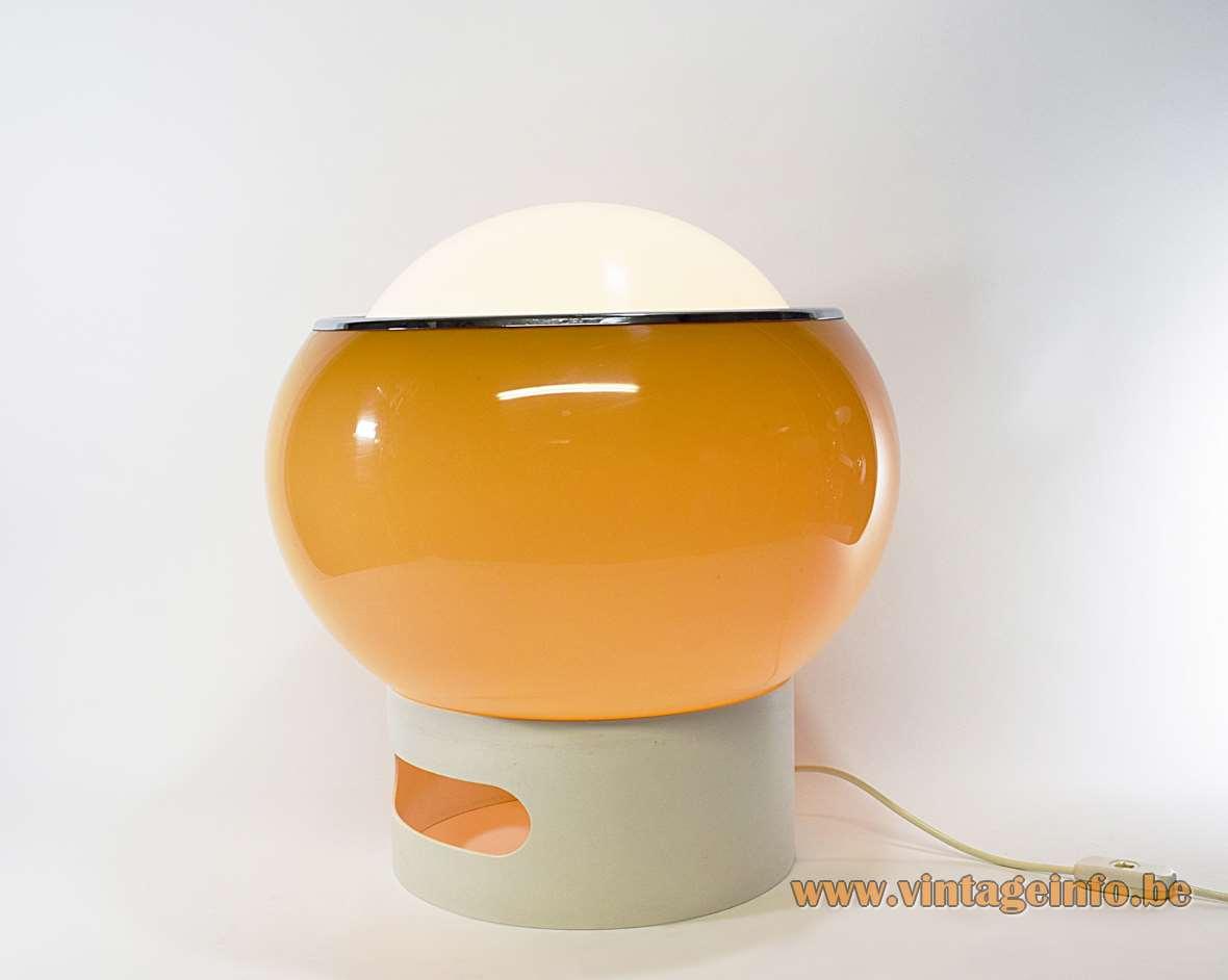 Clan Floor Lamp Design: Studio 6G 1968 brown acrylic iGuzzini Meblo Harveiluce plastic age MCM