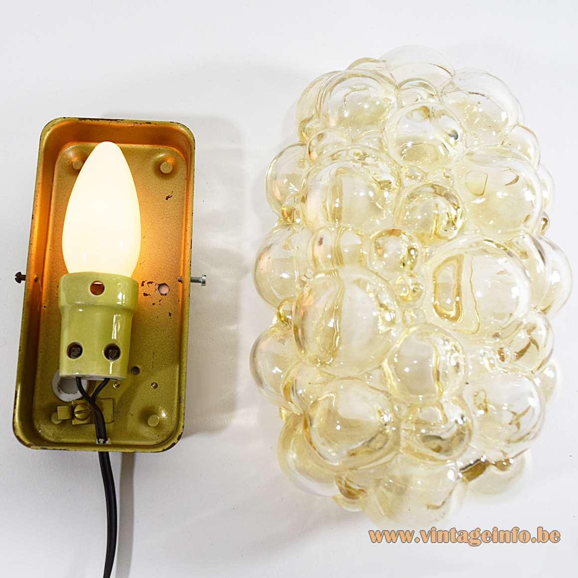 Helena Tynell - Limburg Glashütte Amber Glass Wall Lamp