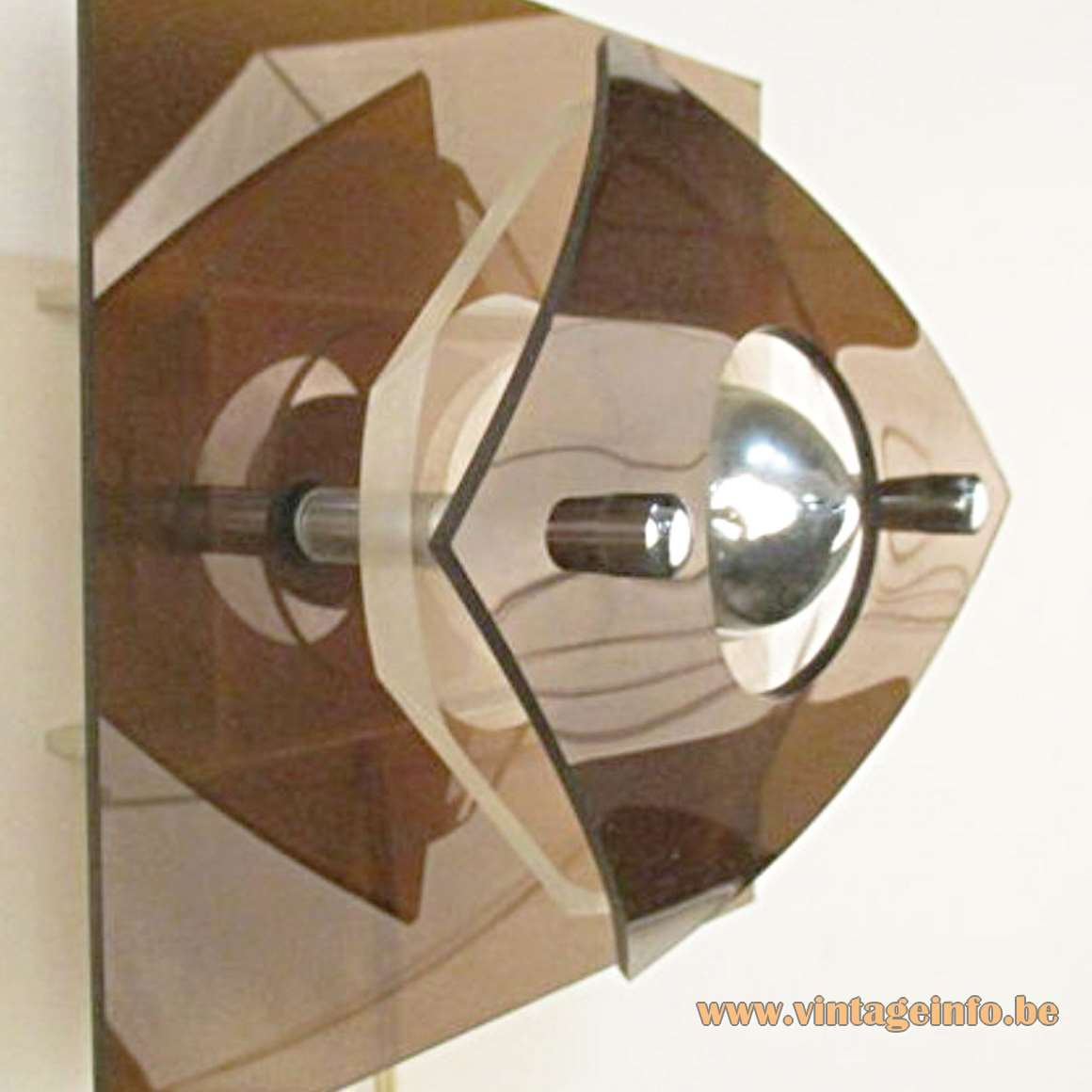 Herda Perspex Wall Light - rounded