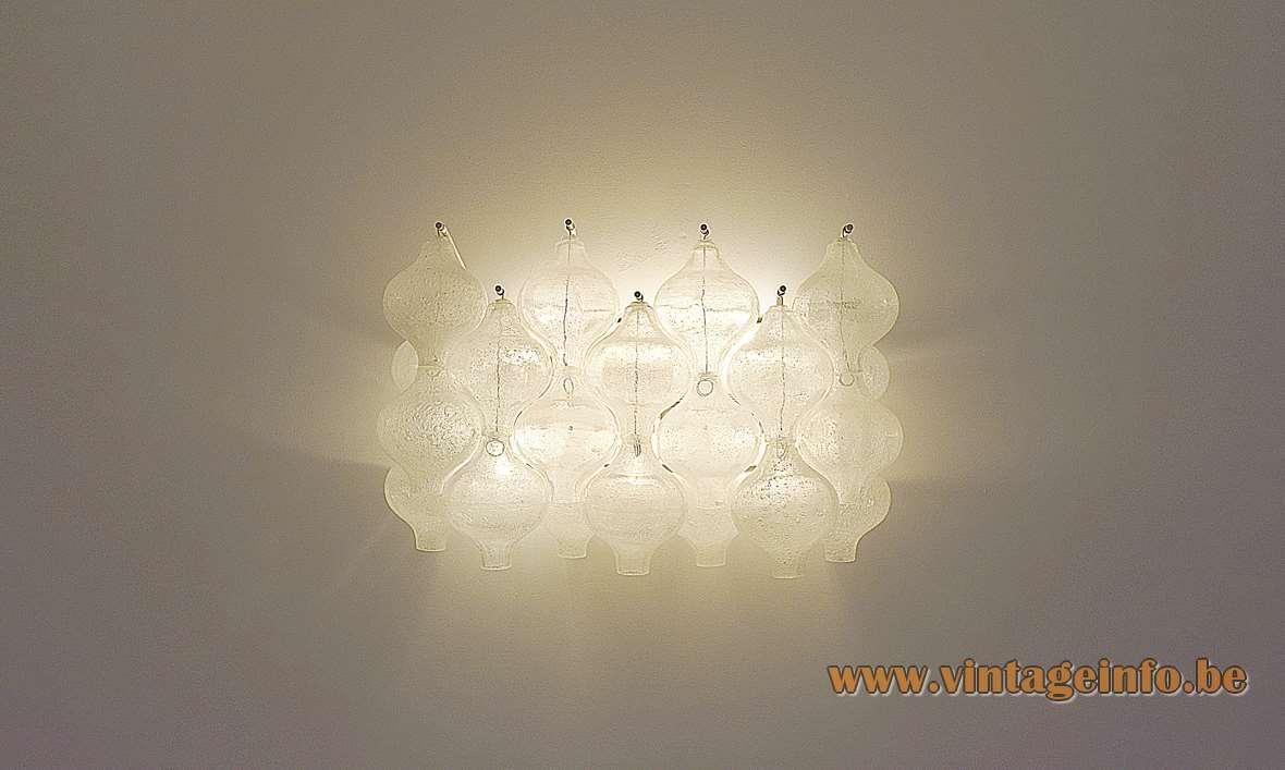 "Tulipan Wall Lamp Design: Julius Kalmar 20 hand blown ""Tulipan' tulip/onion glass bulbs"