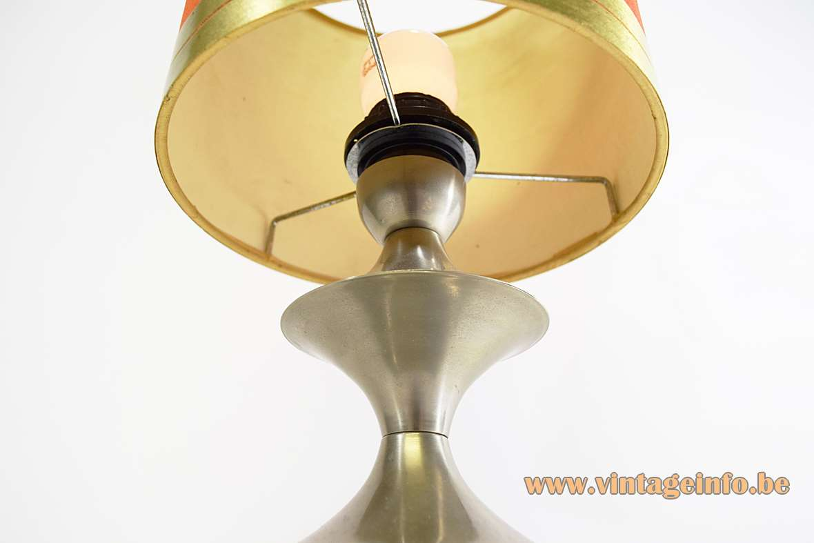Nickel-plated Modernist Table Lamp