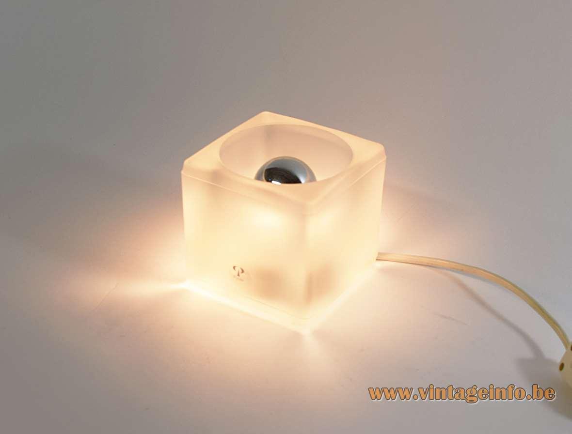 Peill putzler ice cube table lamp vintage info all about peill putzler ice cube table lamp mozeypictures Gallery