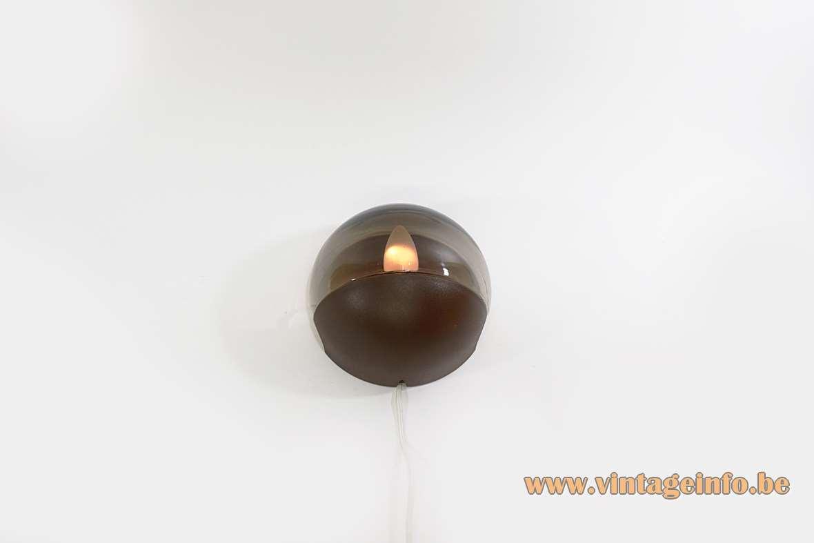 Smoked Glass Wall Lamp
