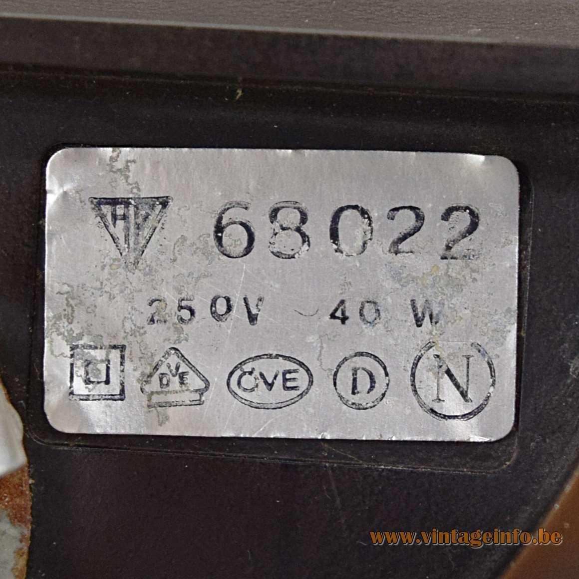 Smoked Glass Wall Lamp - AP label model 68022