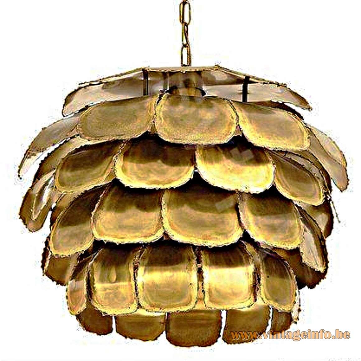 Svend Aage Holm Sørensen Brass Pendant Lamp - Artichoke