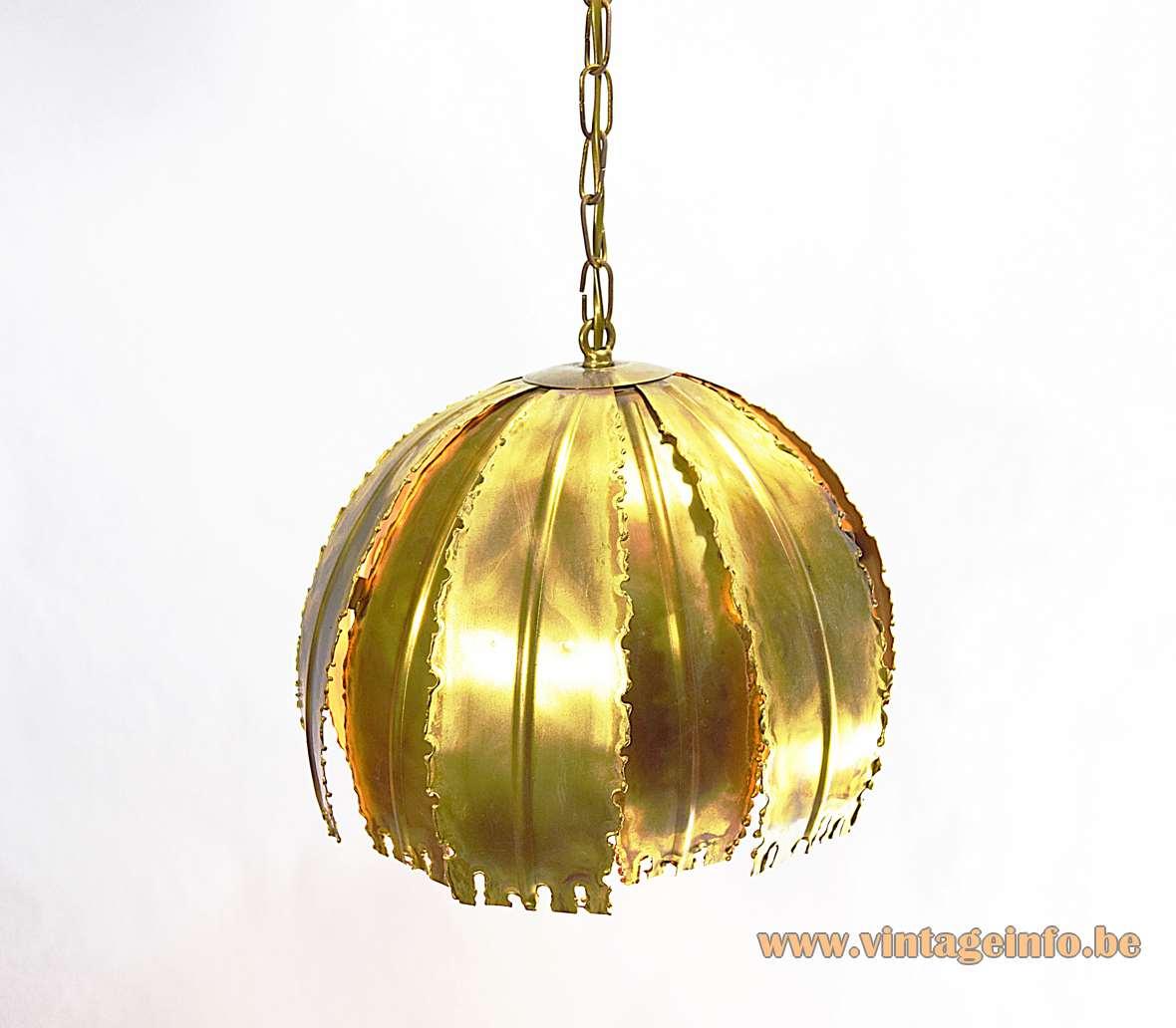 Svend Aage Holm Sørensen Brass Pendant Lamp