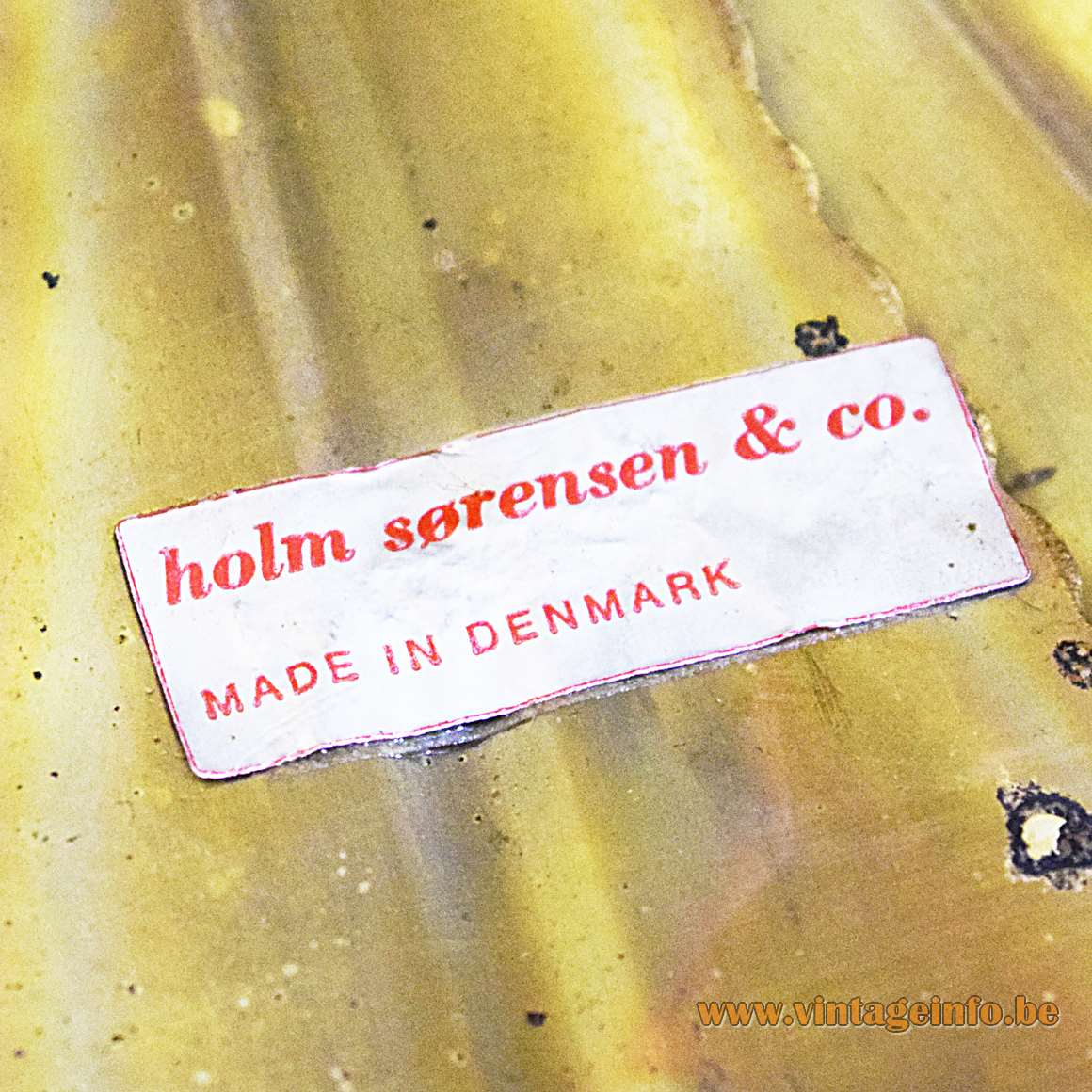 Svend Aage Holm Sørensen Pendant Light - label inside the lampshade