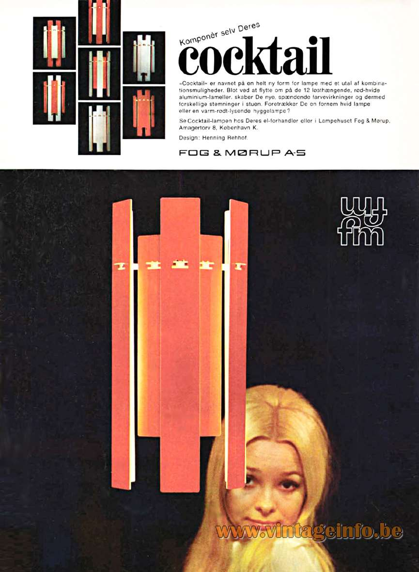 Cocktail Pendant Light - Fog & Morup Catalogue 1971