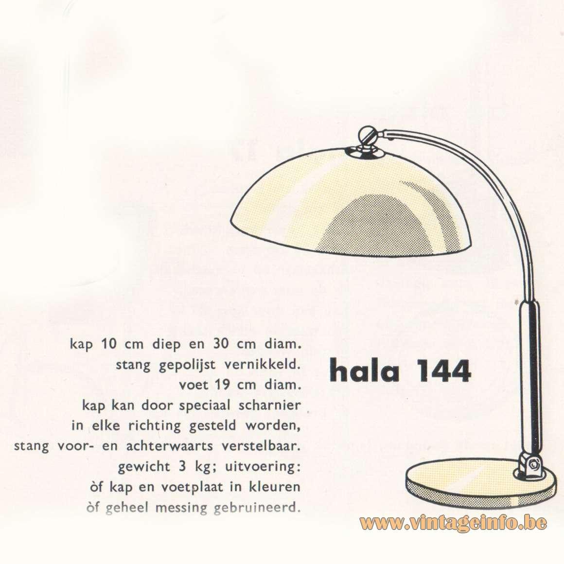 Hala 144 Desk Lamp - Catalogue 1959