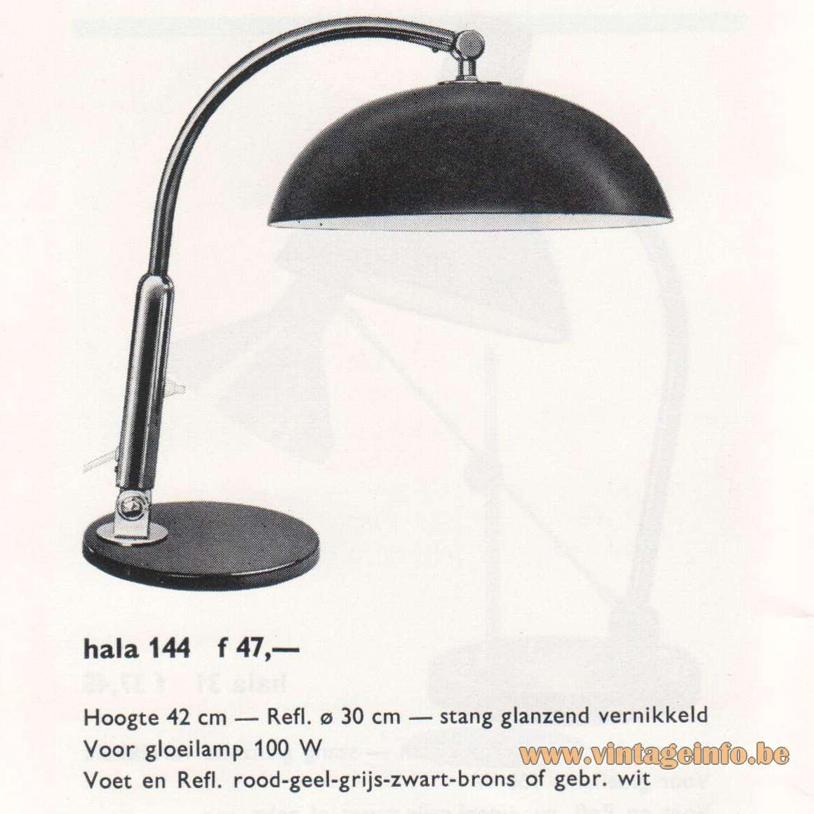 Hala 144 Desk Lamp - Catalogue 1967