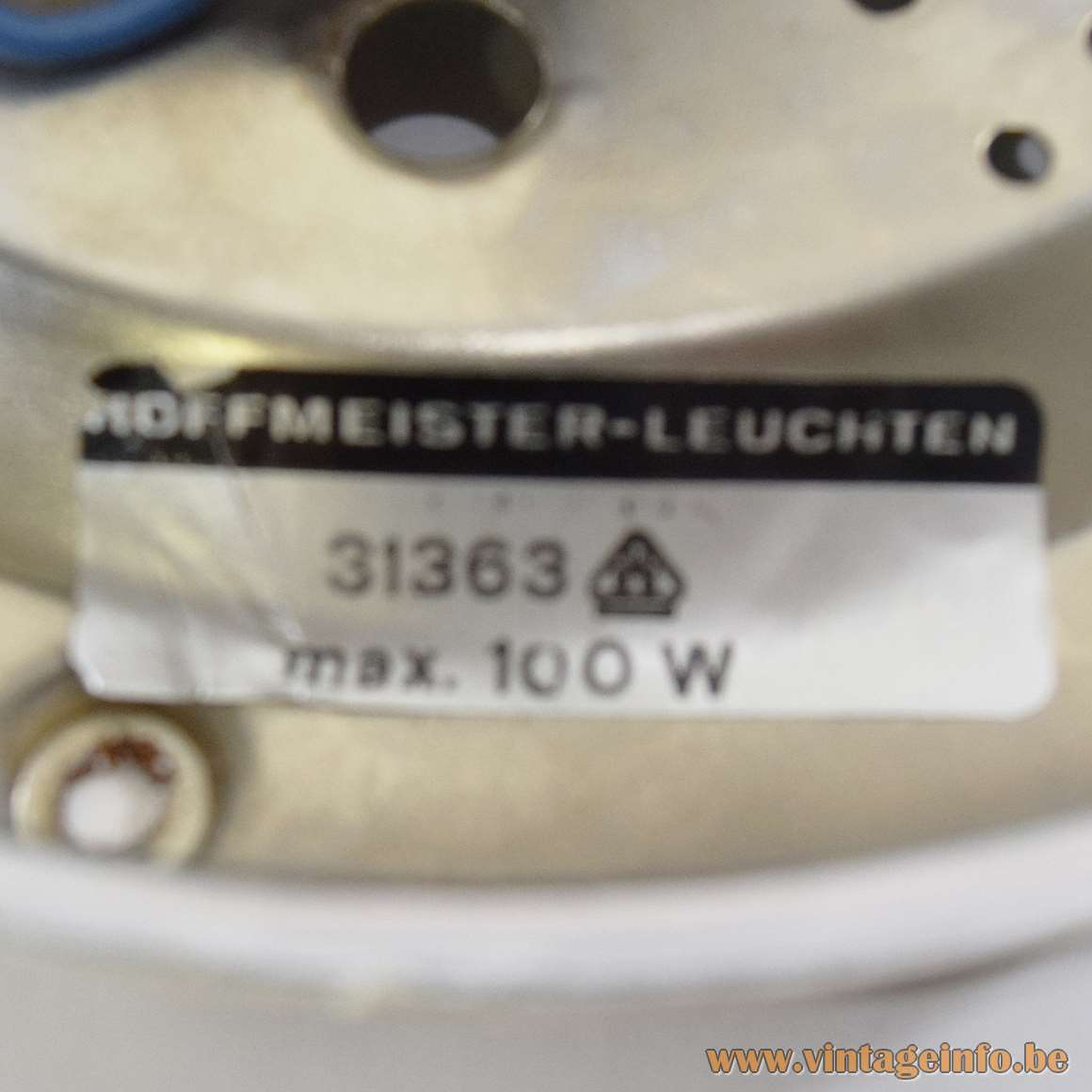 Hoffmeister Flush Mount Label