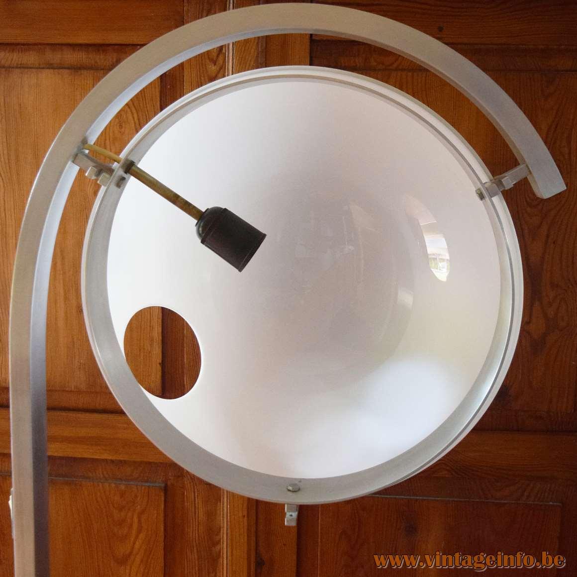 Acrylic Globe Floor Lamp - inside