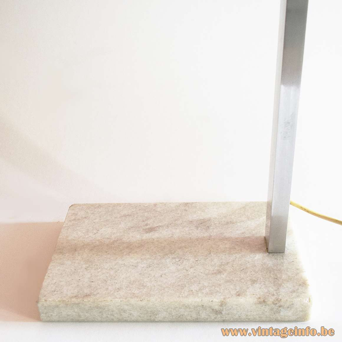 Acrylic Globe Floor Lamp - marble base
