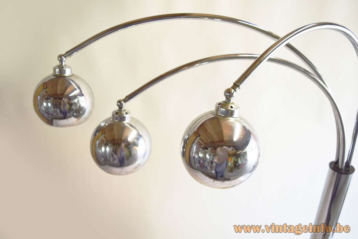 Marble And Chrome Eyeball Floor Lamp