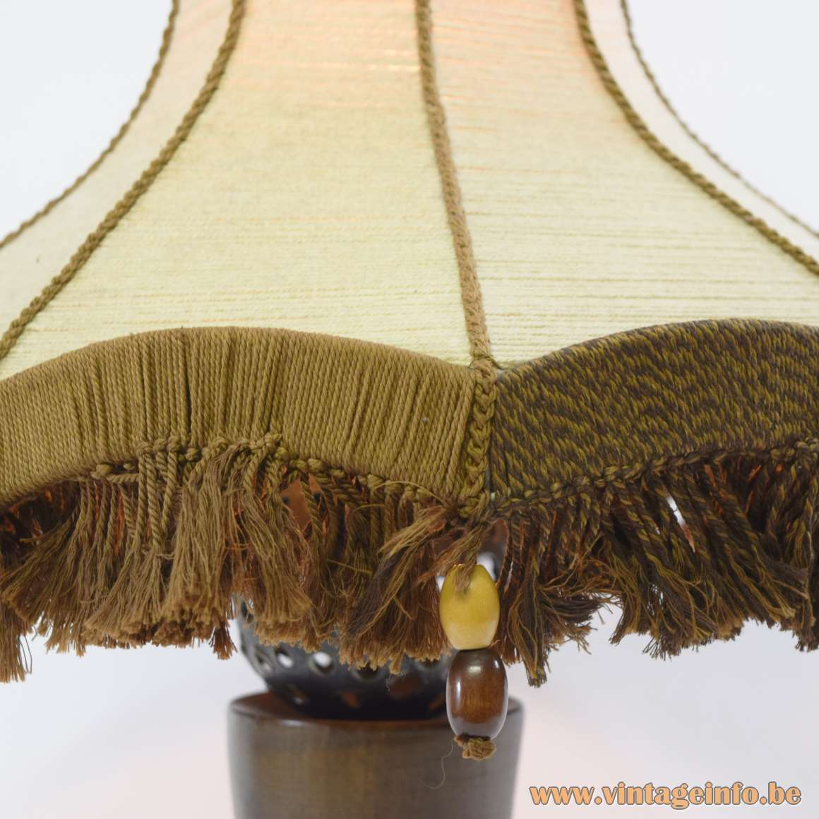 Rosewood Table Lamp - handmade lampshade