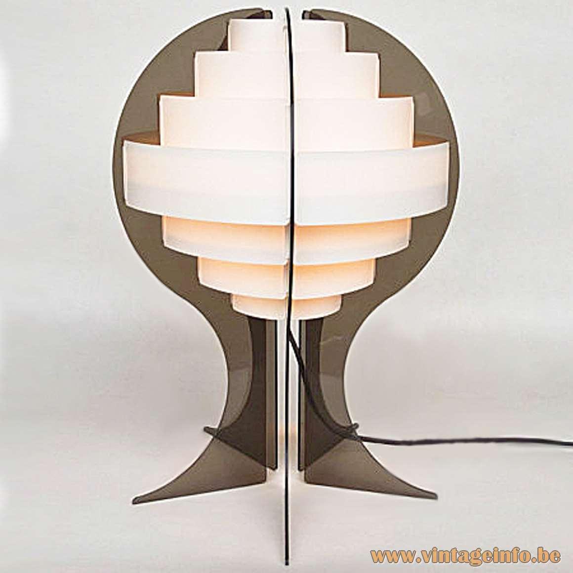 Strips Table Lamp - smoked version