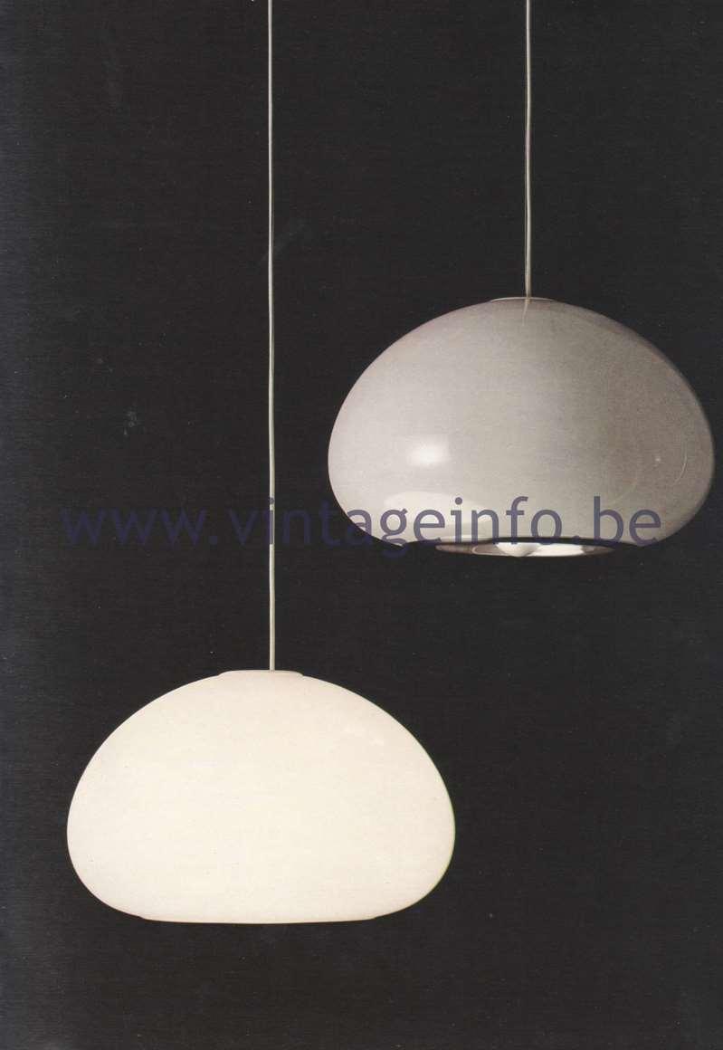 Flos Catalogue 1980 - Black & White lamp, design Achille & Pier Giacomo Castiglioni