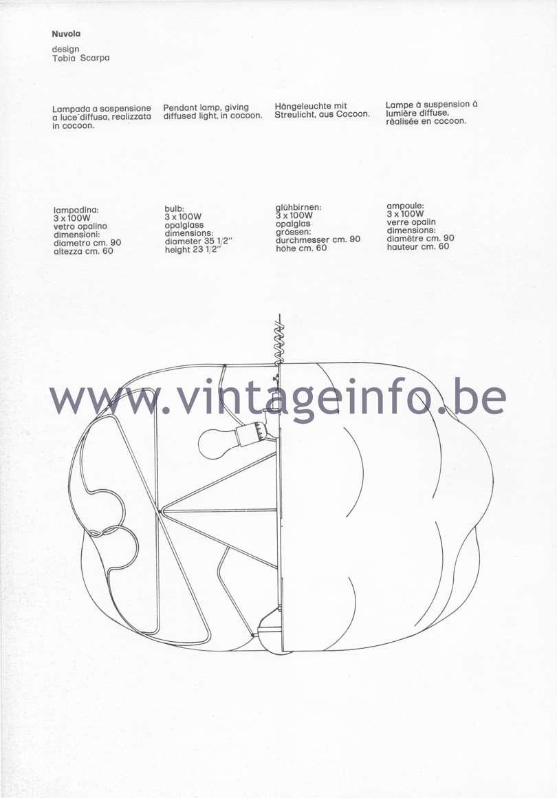 Flos Catalogue 1980 – Nuvola lamp, design Tobia Scarpa