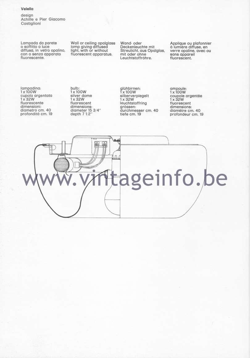 Flos Catalogue 1980 – Velella, design Achille & Pier Giacomo Castiglioni
