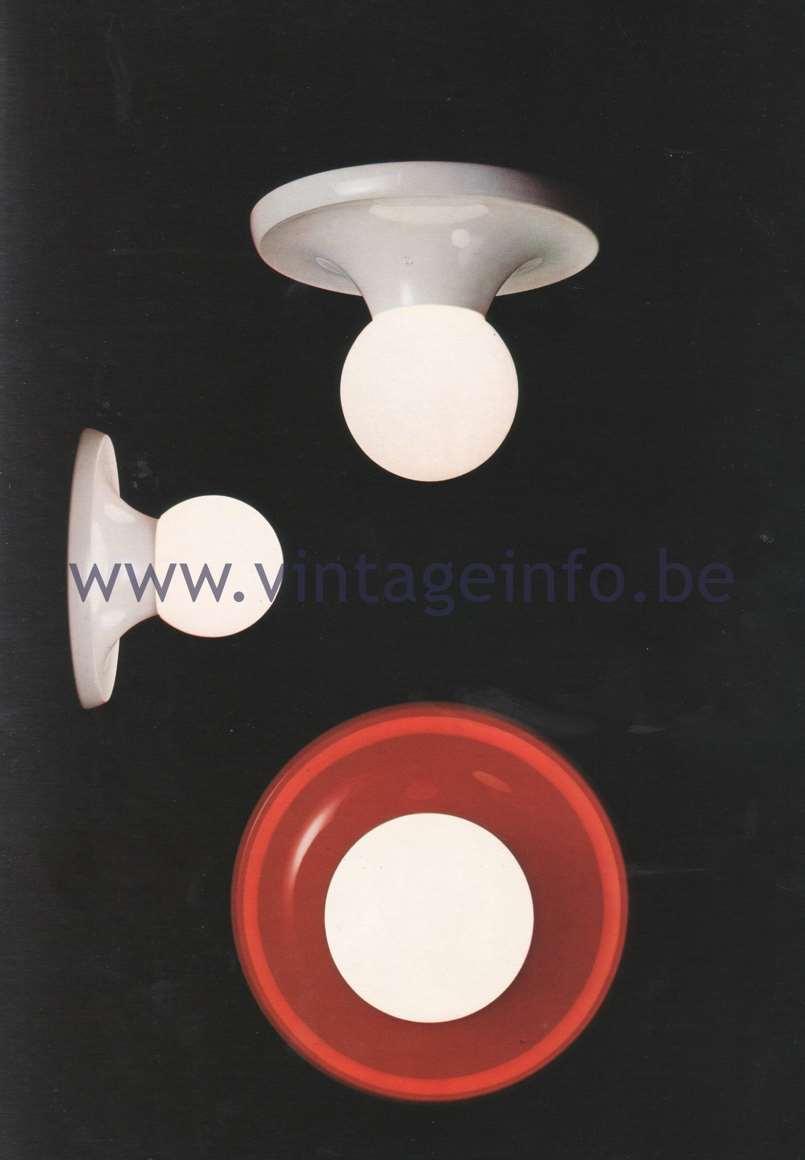 Flos Catalogue 1980 – Light ball 2 3 4, design Achille & Pier Giacomo Castiglioni