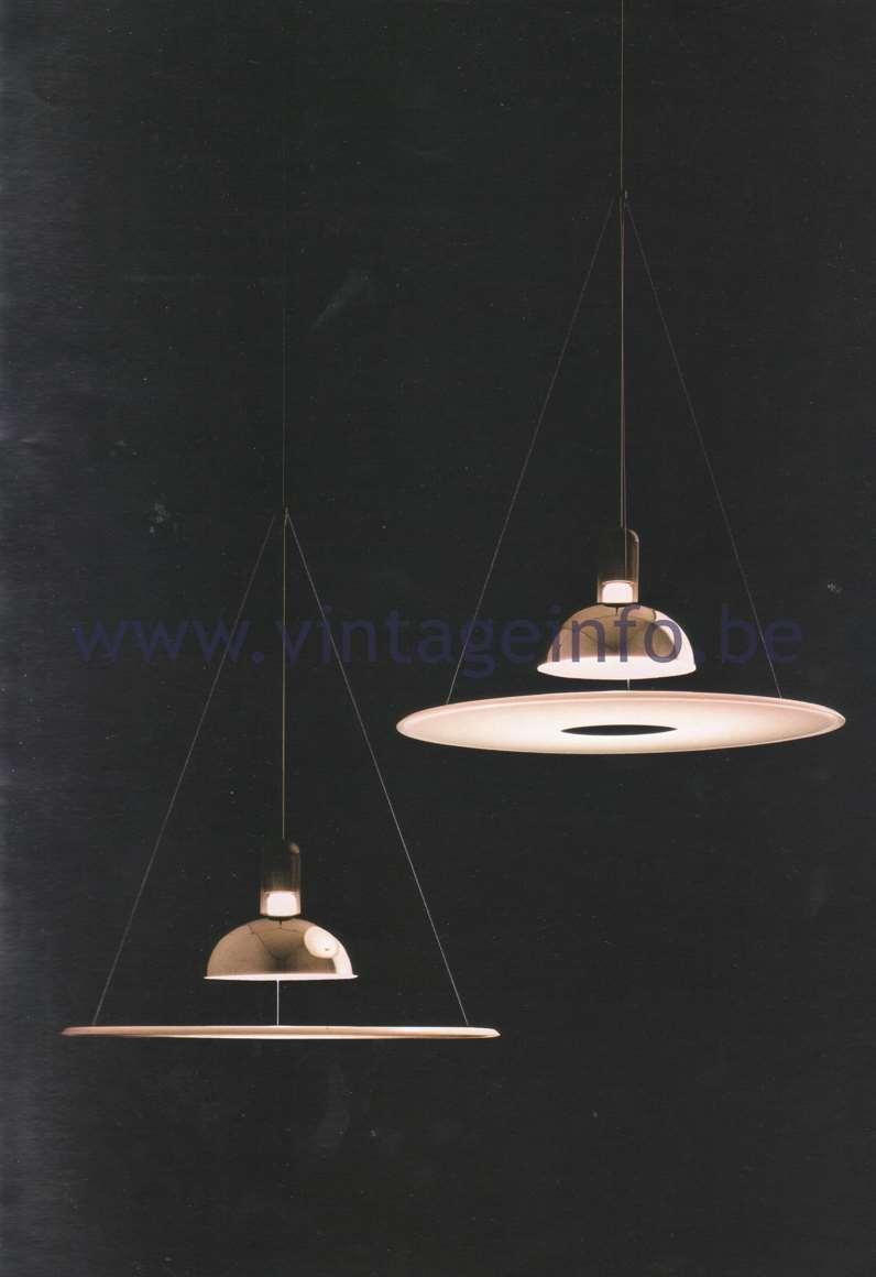 Flos Catalogue 1980 - Frisbi lamp, design Achille Castiglioni