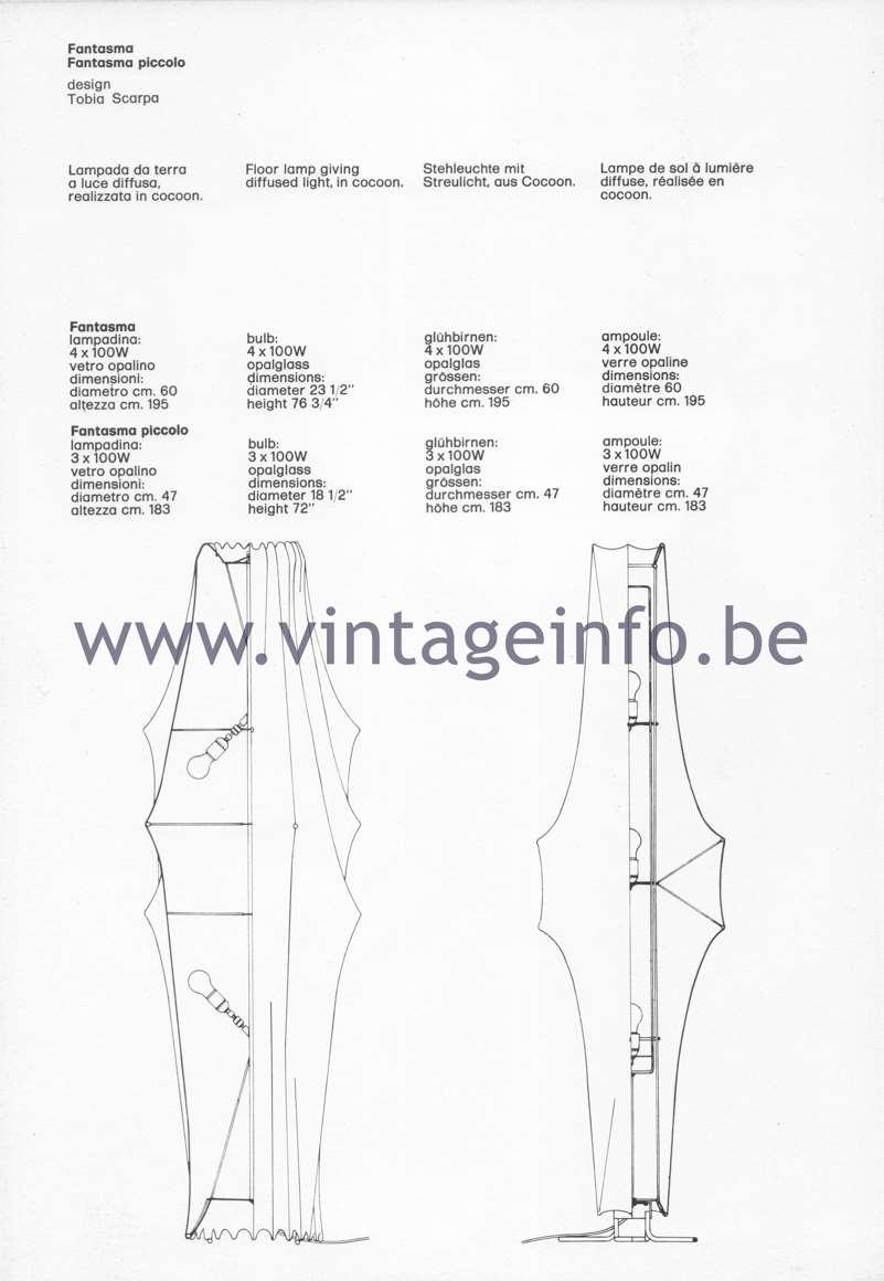 Flos Catalogue 1980 – Fantasma & Fantasma piccolo, design Tobia Scarpa