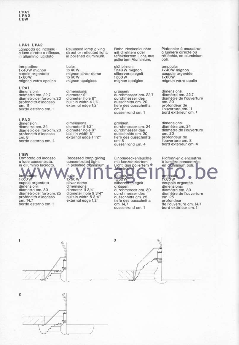 Flos Catalogue 1980 – I/PA 1 I/PA 2 l/BW