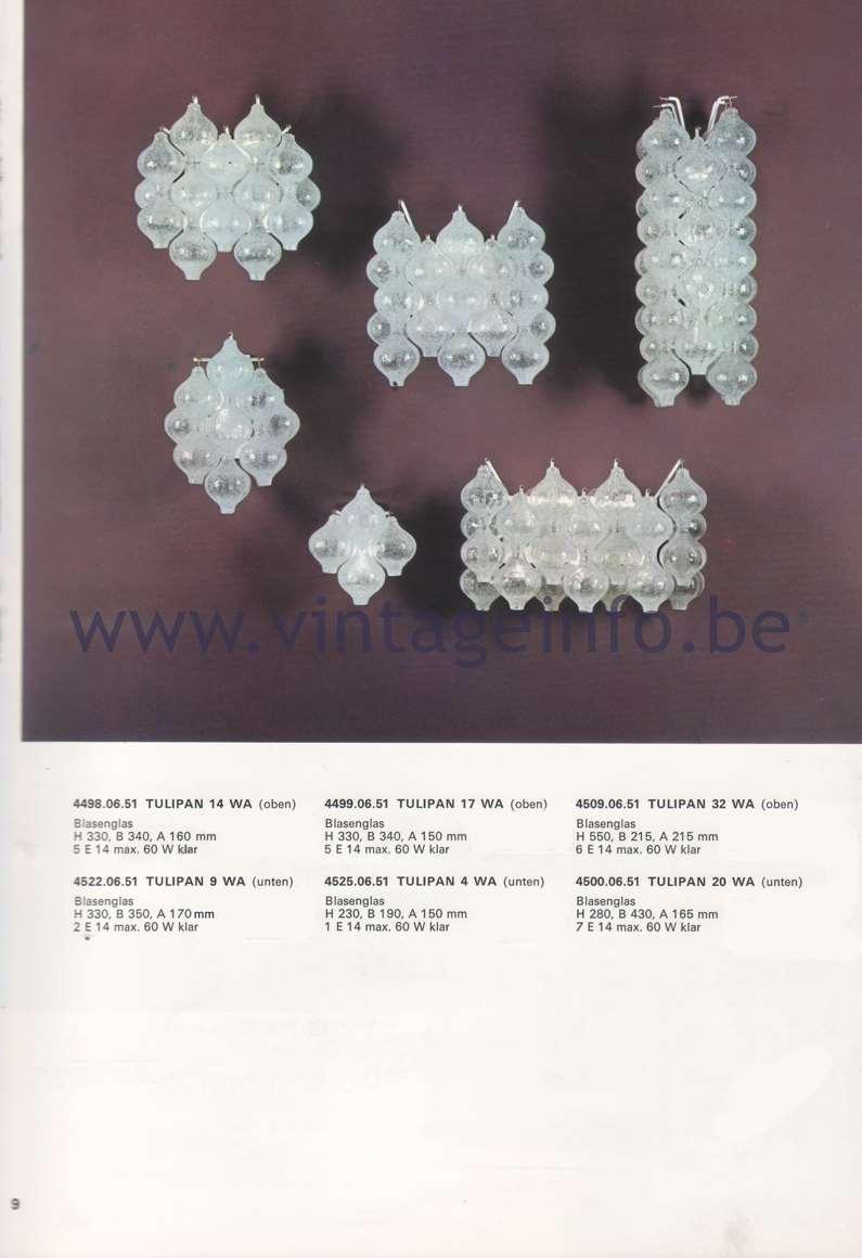 Kalmar Franken KG Catalogue 1974 - Wiener leuchten aus hand gearbeitetem glas