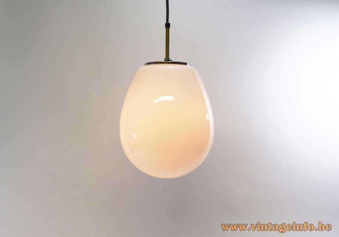 Opaque Droplet Pendant Light