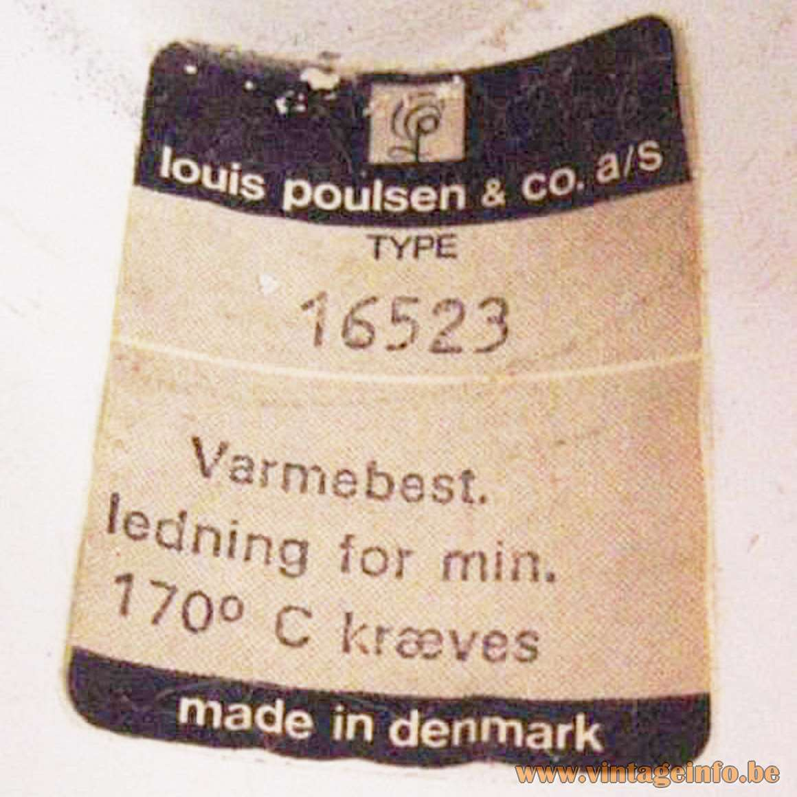 Poulsen Billiard Pendant Light - label 16523