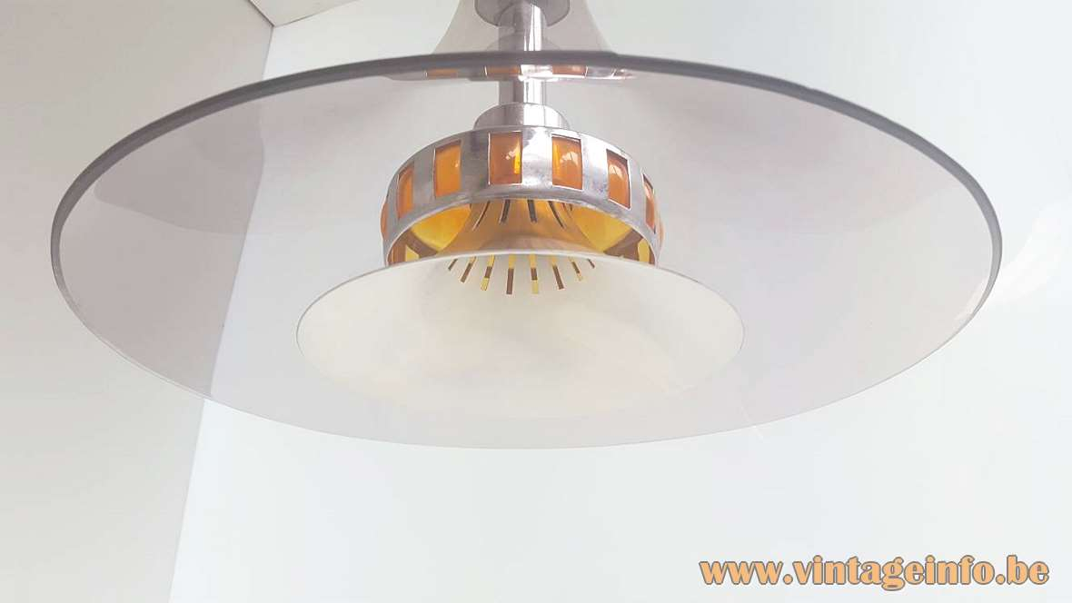 Smoked Acrylic Pendant Lamp