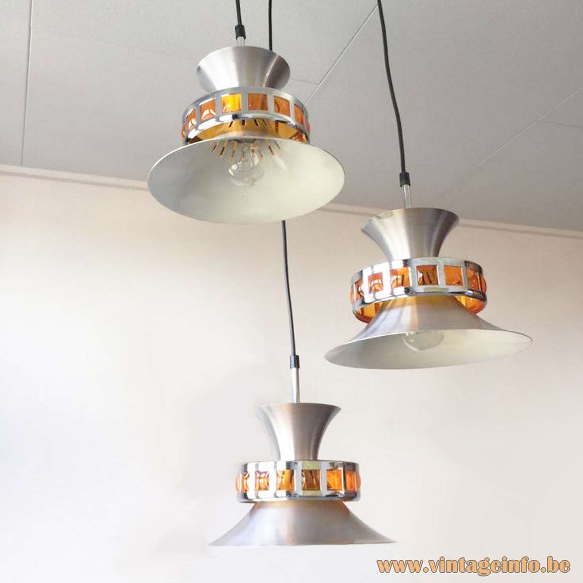 Smoked Acrylic Triple Pendant Light