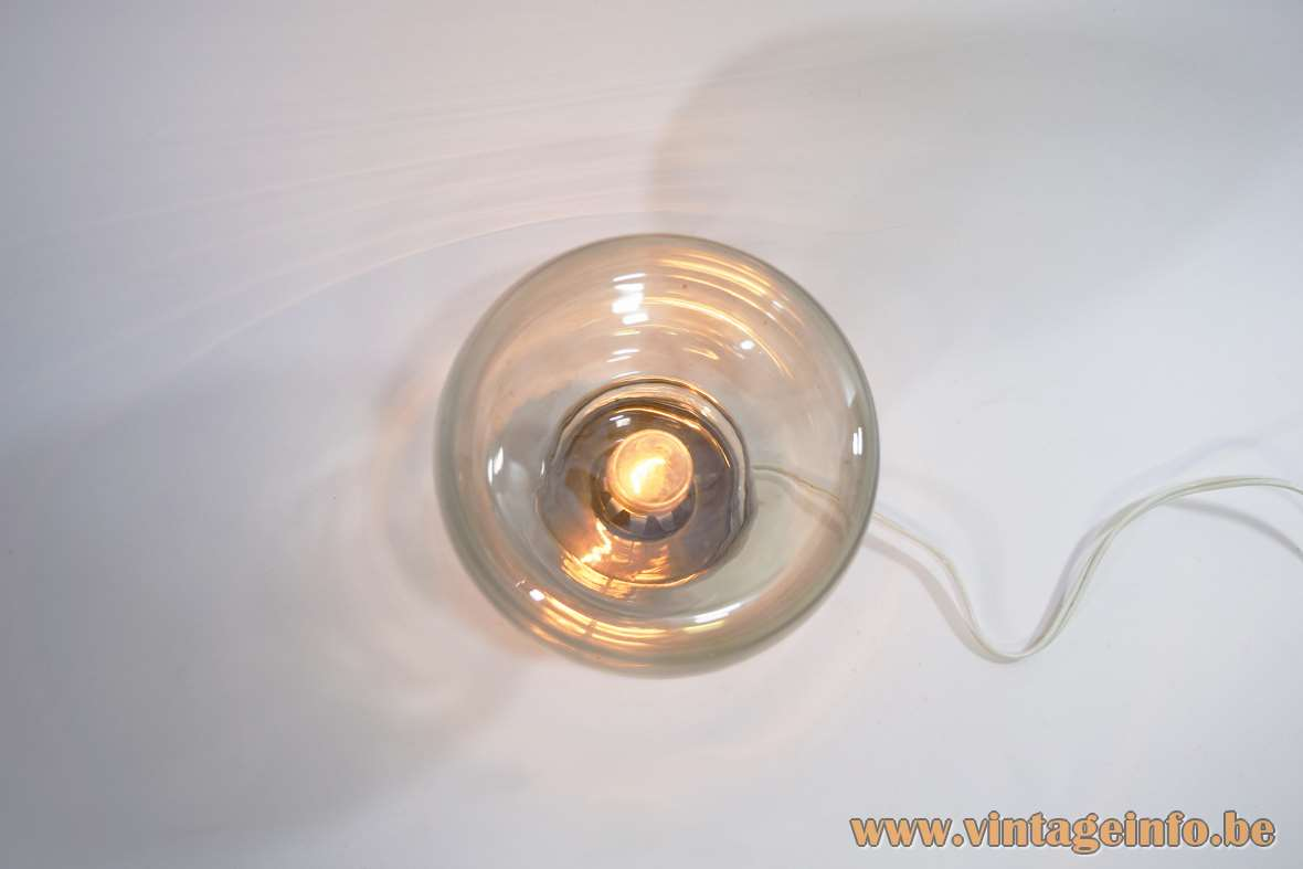 Smoked Glass Table Lamp