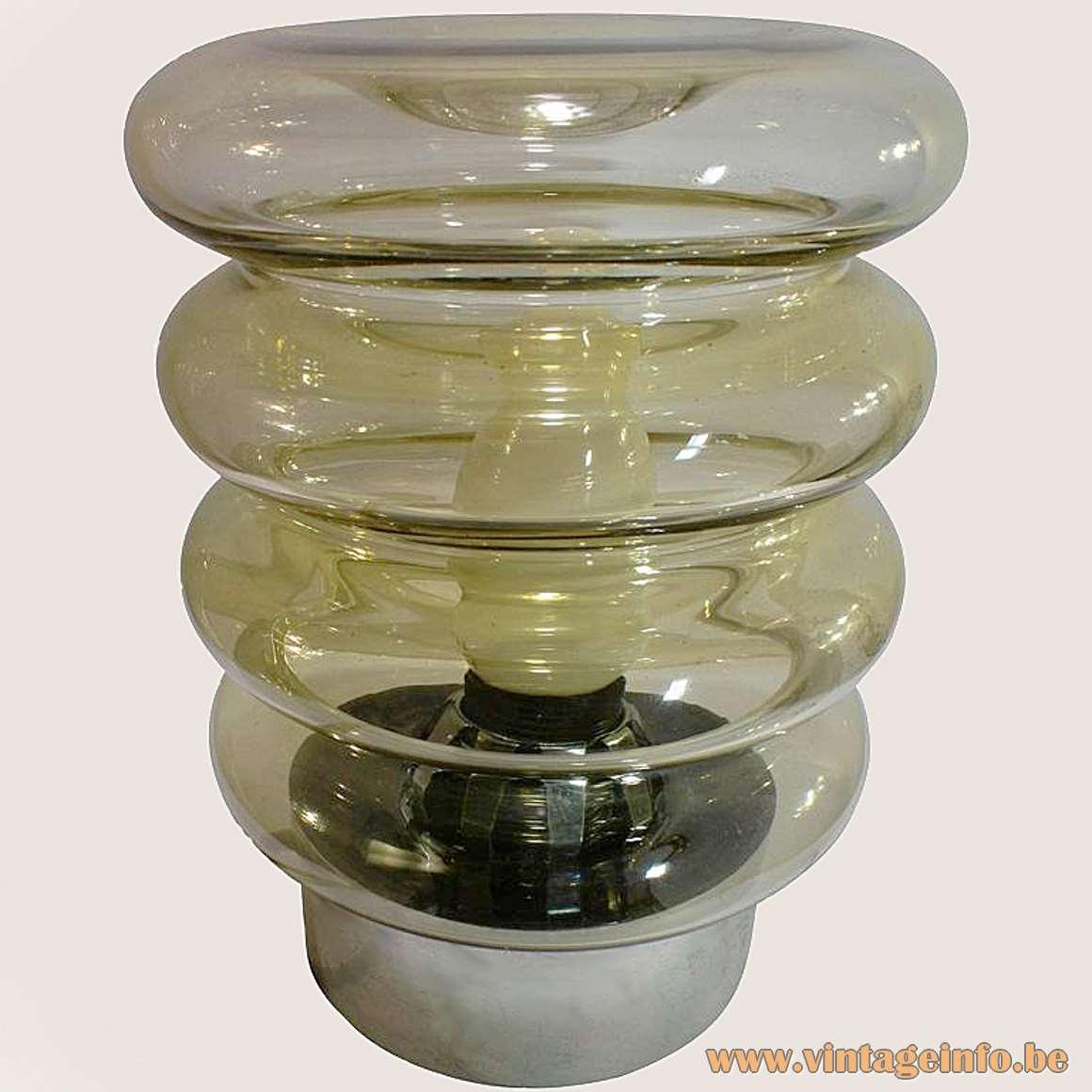 Smoked Glass Table Lamp - big version