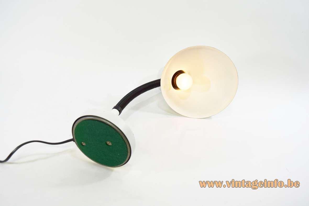 White 1970s Desk Lamp